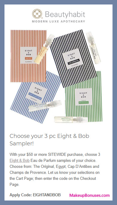 Receive your choice of 3-pc gift with $50 Multi-Brand purchase