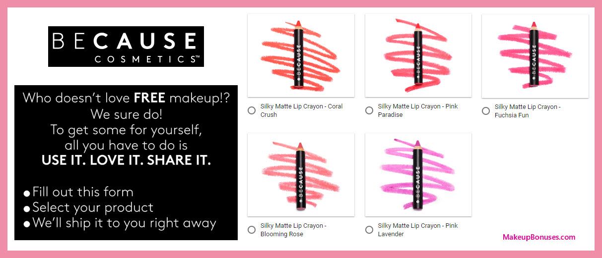 BeCauseCosmetics Free Sample - MakeupBonuses.com