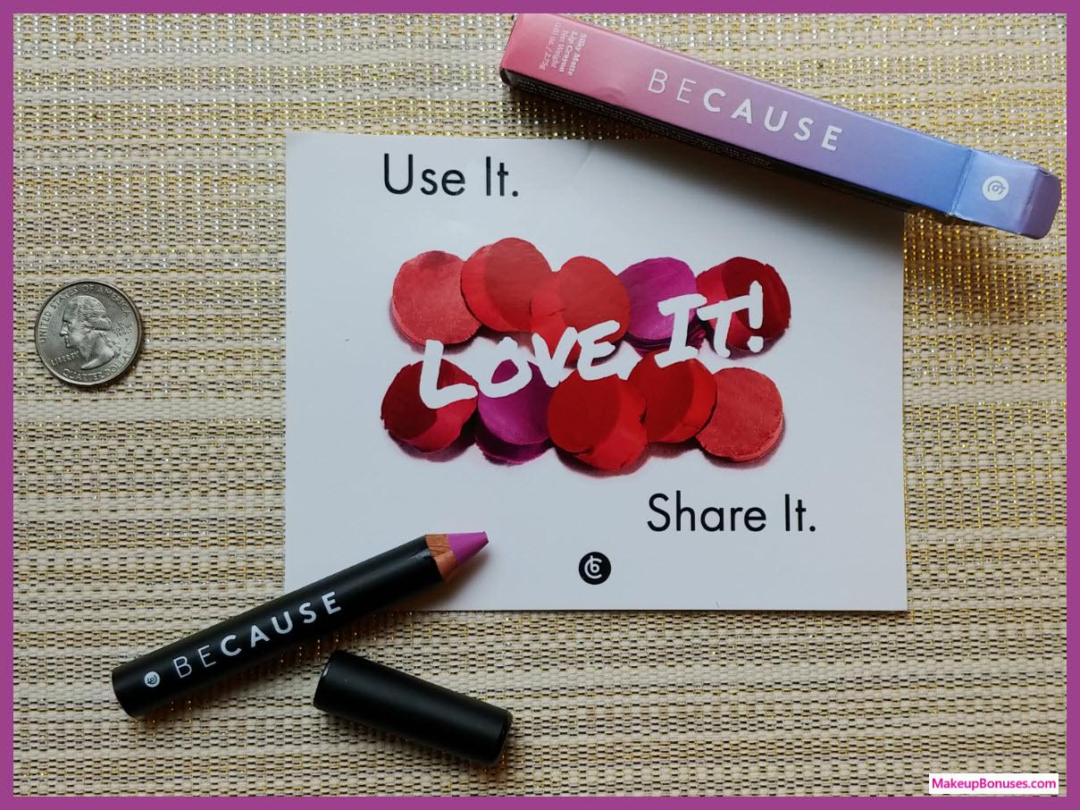 BeCause Cosmetics Free Sample Pink Lavender MakeupBonuses.com