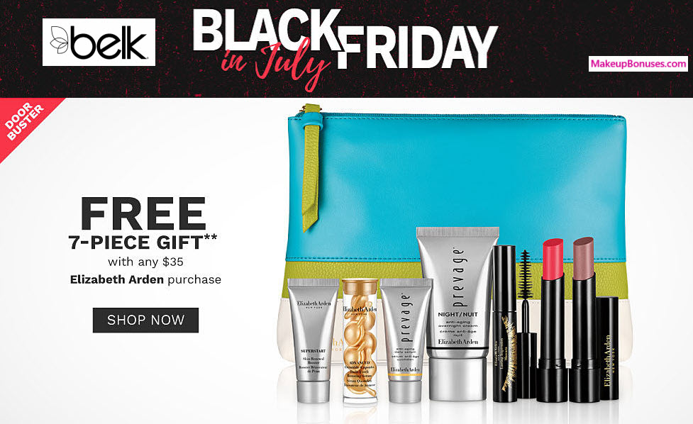 Receive your choice of 7-pc gift with $35 Elizabeth Arden purchase