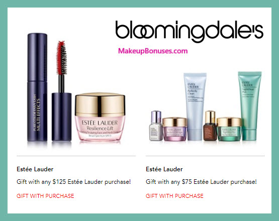 Receive a free 5-pc gift with $125 Estée Lauder purchase
