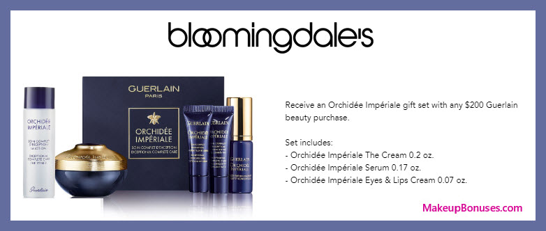 Receive a free 5-pc gift with $200 Guerlain purchase