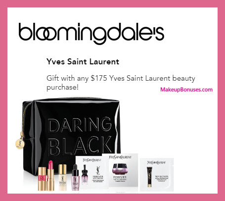 Receive a free 7-pc gift with $175 Yves Saint Laurent purchase