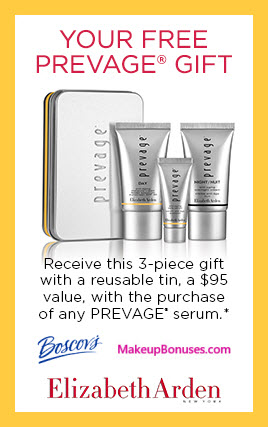Receive a free 3-pc gift with Prevage serum purchase