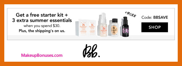 Receive a free 5-pc gift with $30 Bumble and bumble purchase