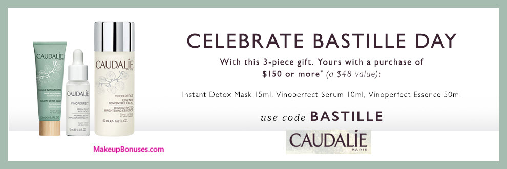 Receive a free 3-pc gift with $150 Caudalie purchase