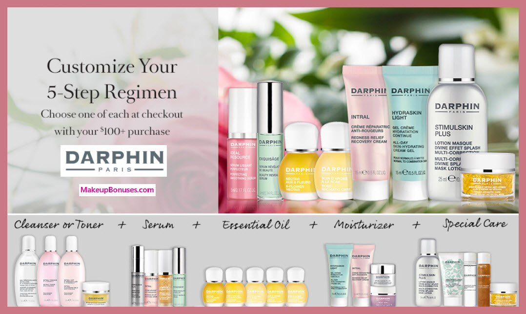 Receive your choice of 5-pc gift with $100 Darphin purchase