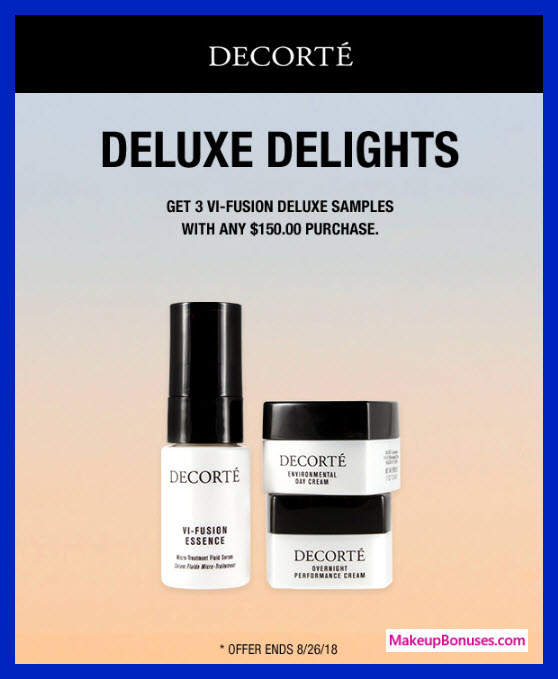Receive your choice of 3-pc gift with $150 Decorté purchase