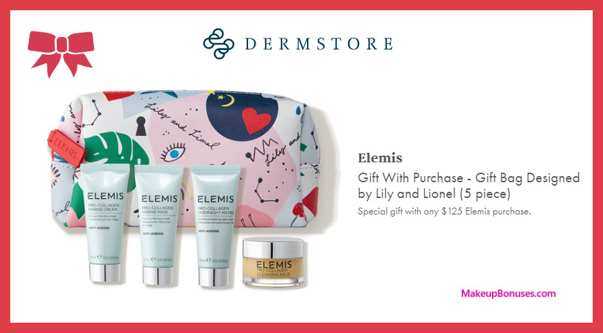 Receive a free 5-pc gift with $125 Elemis purchase