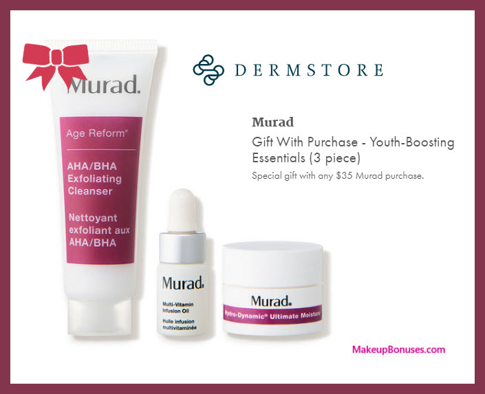 Receive a free 3-pc gift with $35 Murad purchase