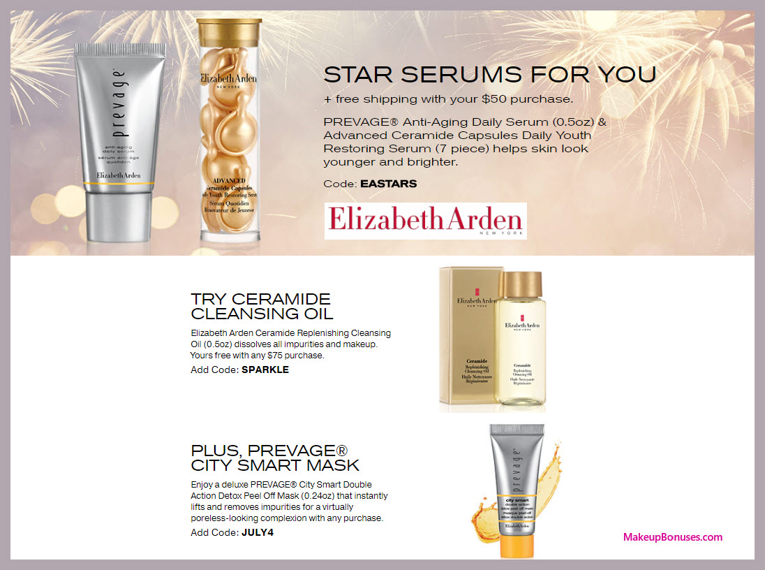 Receive a free 3-pc gift with $50 Elizabeth Arden purchase