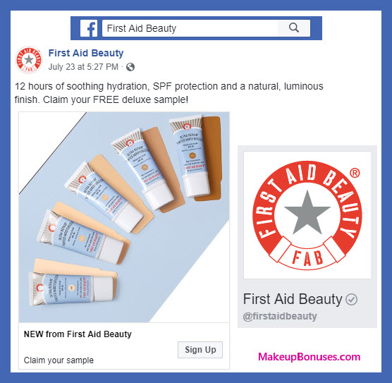 First Aid Beauty Free Sample - MakeupBonuses.com