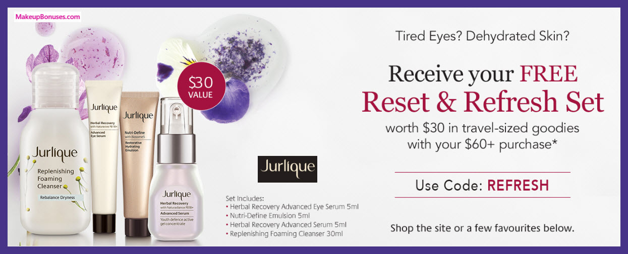 Receive a free 4-pc gift with $60 Jurlique purchase