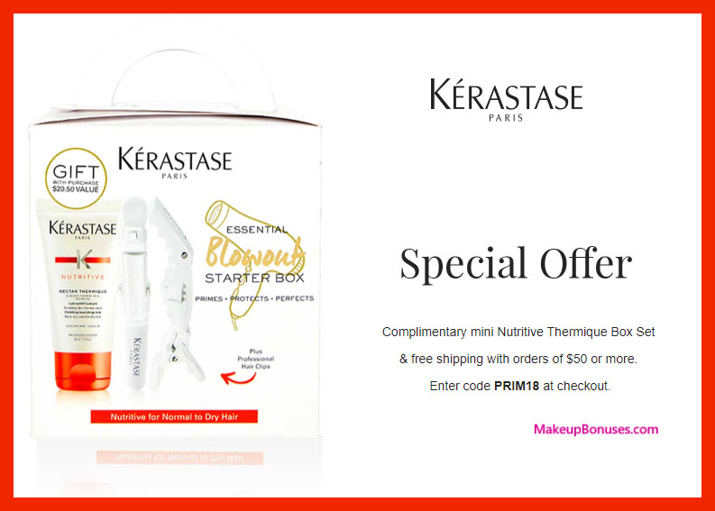 Receive a free 3-pc gift with $50 Kérastase purchase