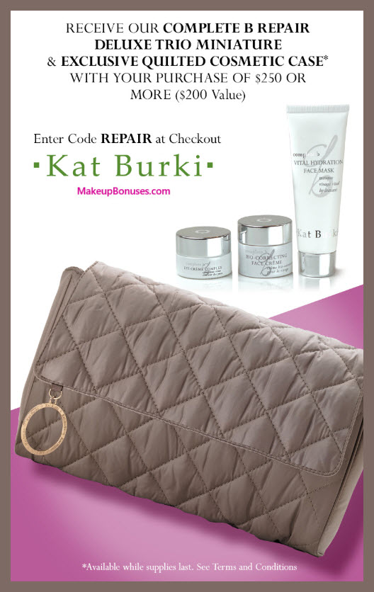 Receive a free 4-pc gift with $250 Kat Burki purchase