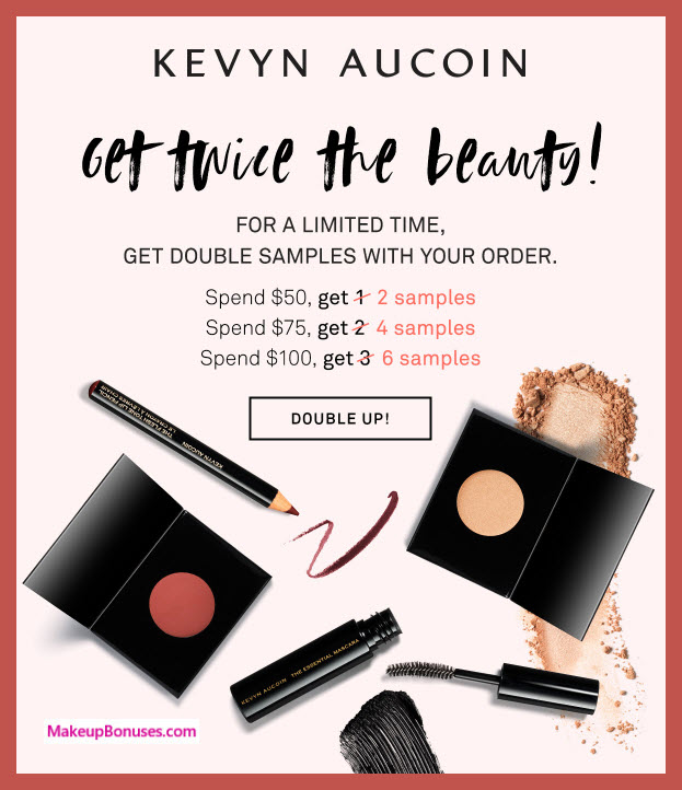 Receive your choice of 6-pc gift with $100 Kevyn Aucoin purchase
