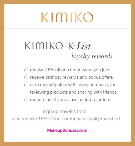 Kimiko Beauty Birthday Gift - MakeupBonuses.com #KimikoBeauty #CrueltyFree
