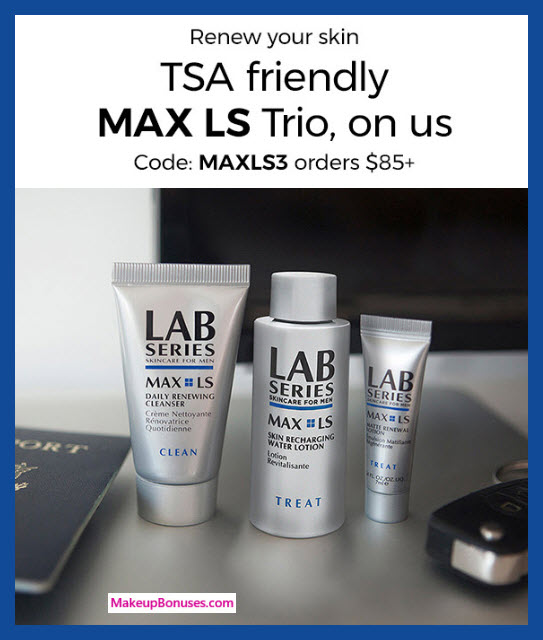 Receive a free 3-pc gift with $85 LAB SERIES purchase