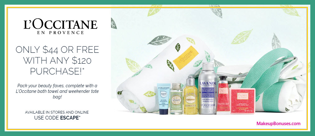 Receive a free 8-pc gift with $120 L'Occitane purchase
