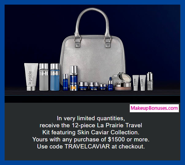 Receive a free 12-pc gift with $1500 La Prairie purchase