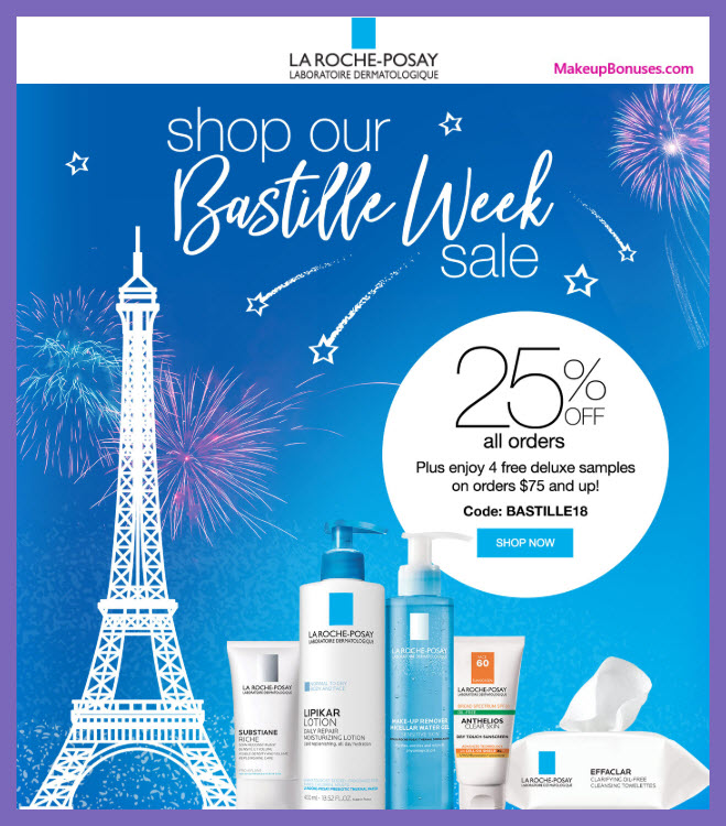 Receive a free 4-pc gift with $75 La Roche-Posay purchase