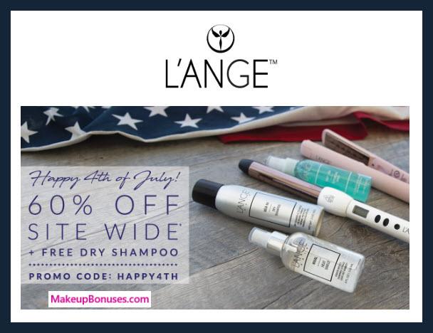 L'ange 60% Off sitewide MakeupBonuses.com