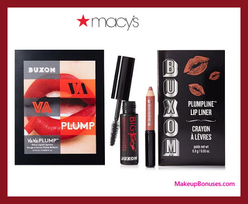 Receive a free 3-pc gift with $35 BUXOM purchase