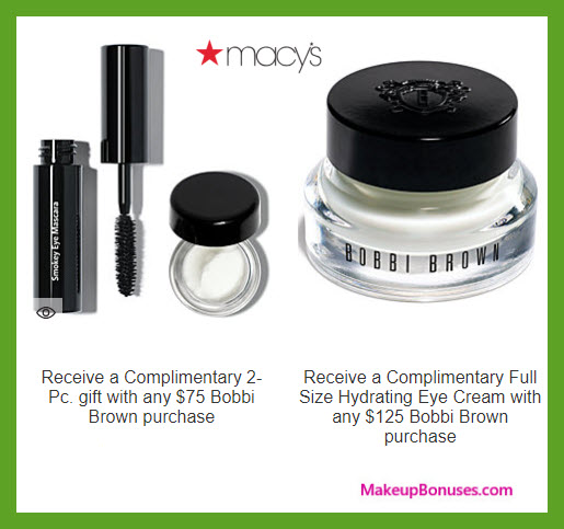 Receive a free 3-pc gift with $125 Bobbi Brown purchase