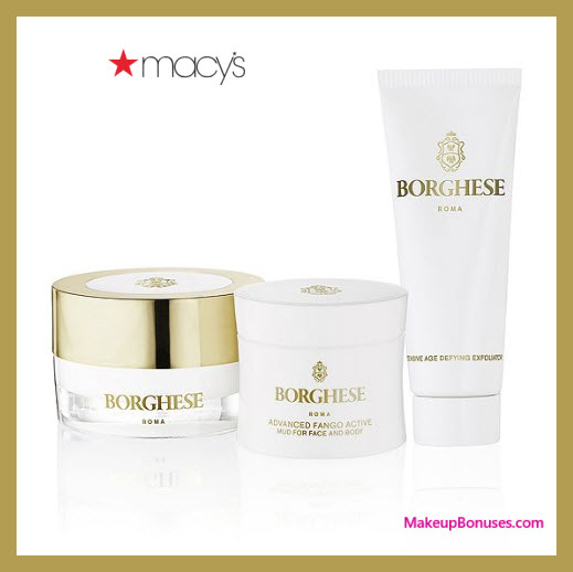 Receive a free 3-pc gift with $50 Borghese purchase