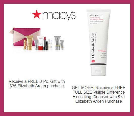 Receive a free 8-pc gift with $35 Elizabeth Arden purchase