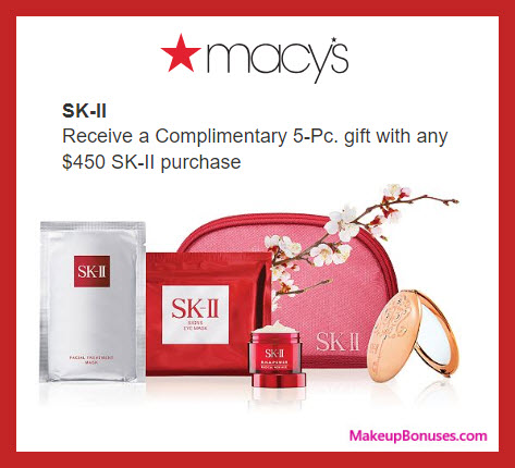 Receive a free 5-pc gift with $450 SK-II purchase
