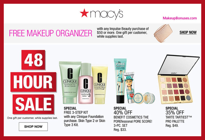 Great Beauty Offers At Macy S 48 Hour Sale Makeup Bonuses