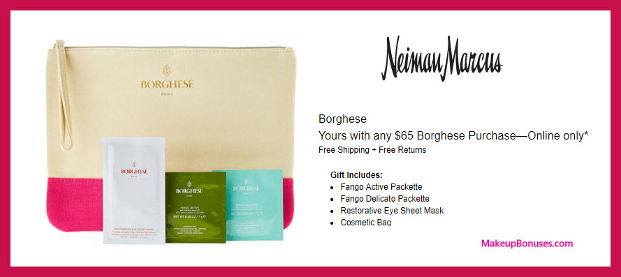 Receive a free 4-pc gift with $65 Borghese purchase
