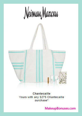 Receive a free 5-pc gift with $275 Chantecaille purchase