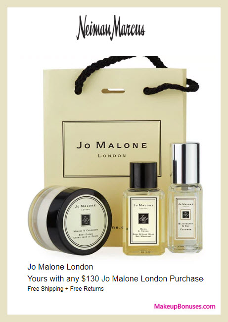 Receive a free 3-pc gift with $130 Jo Malone purchase