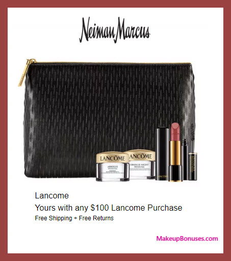 Receive a free 3-pc gift with $100 Lancôme purchase