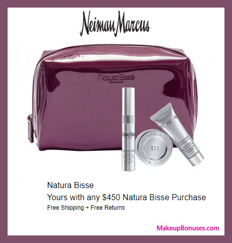 Receive a free 3-pc gift with $450 Natura Bissé purchase