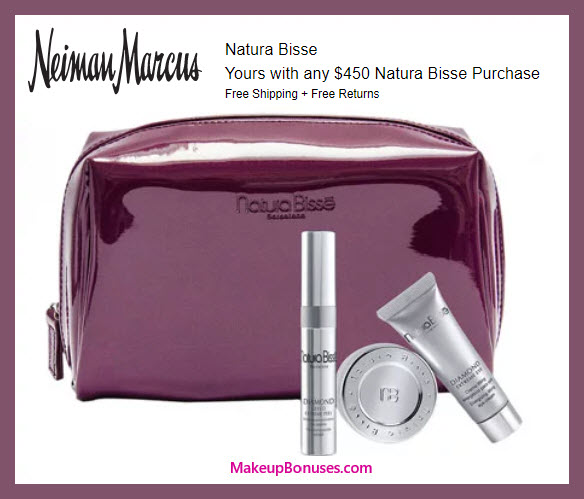 Receive a free 4-pc gift with $450 Natura Bissé purchase