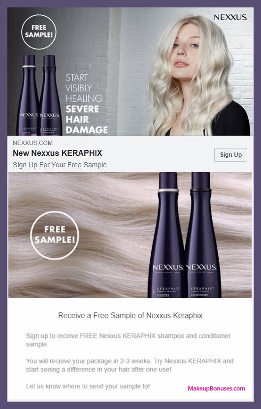 Nexxus Free Sample - MakeupBonuses.com