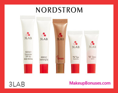 Receive a free 5-pc gift with $300 3LAB purchase