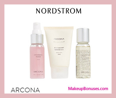 Receive a free 3-pc gift with $100 ARCONA purchase