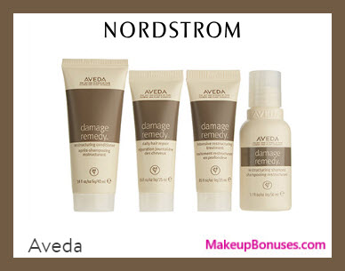 Receive a free 4-pc gift with $50 Aveda purchase