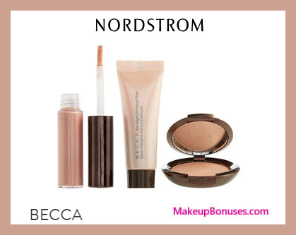 Receive a free 3-pc gift with $65 BECCA Cosmetics purchase