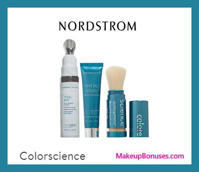 Receive a free 3-pc gift with $75 COLORESCIENCE purchase