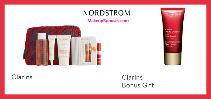 Receive a free 12-pc gift with $65 Clarins purchase