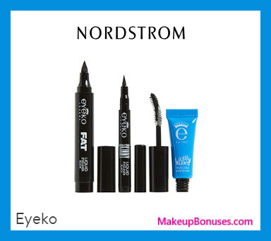 Receive a free 3-pc gift with $50 Eyeko purchase