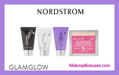 Receive a free 4-pc gift with $80 GlamGlow purchase