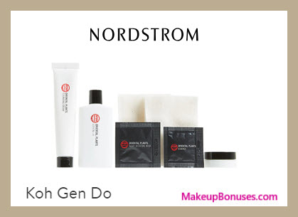 Receive a free 15-pc gift with $125 Koh Gen Do purchase
