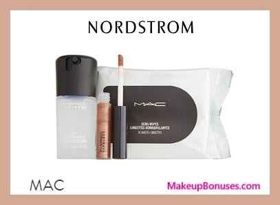 Receive a free 3-pc gift with $65 MAC Cosmetics purchase