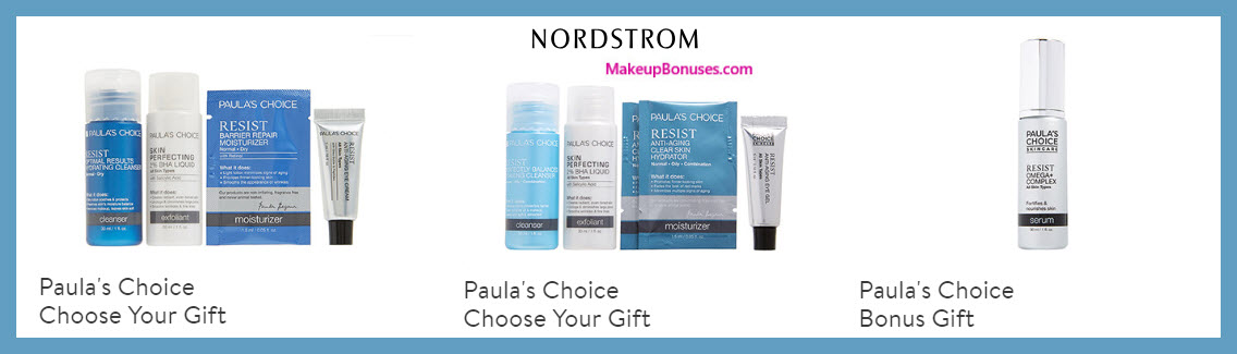 Receive your choice of 4-pc gift with $50 PAULA'S CHOICE purchase